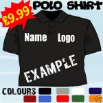 BIRTHDAY GIFT OWN DESIGN PERSONALISED T POLO SHIRT